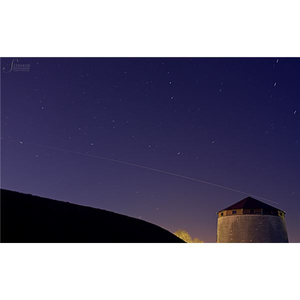 Star Trails ISS pass