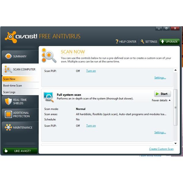 avast-system-scan-page