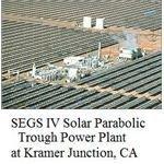 solar parabolic trough power plant