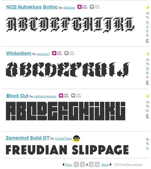 Fonts designed