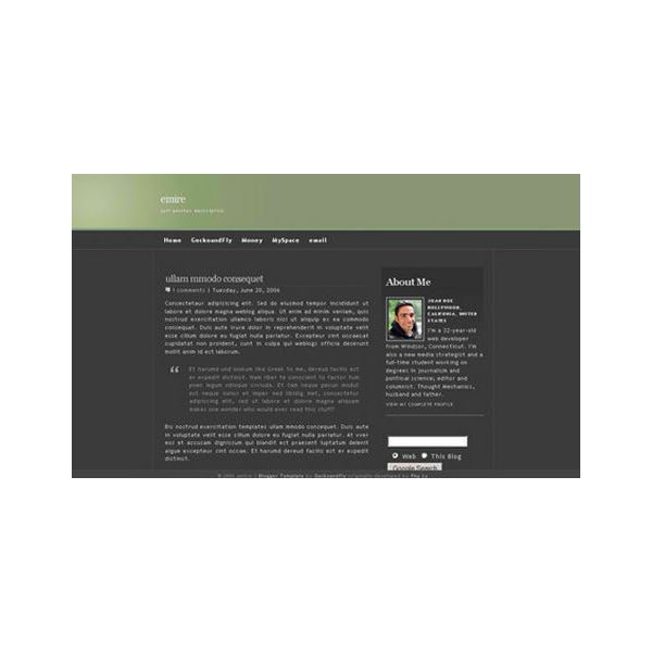 free blogger template, emire template for blogger