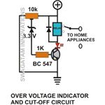 Over Voltage Detector And Cut Off Circuit Diagram, Image