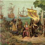 The Arrival of Christopher Columbus in  the Americas
