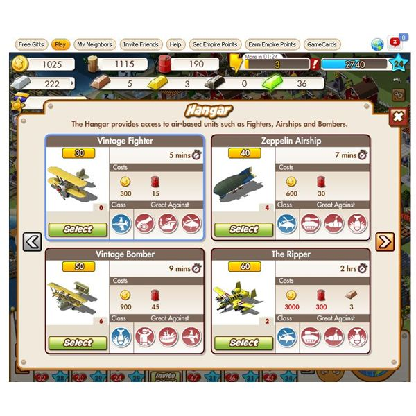Empire and Allies military unit guide - Wage War on Facebook
