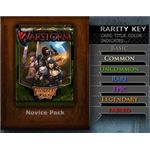 A listing of card rarities in Facebook Warstorm