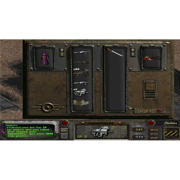 Fallout 2 weapons 1