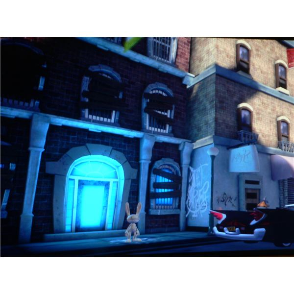 Sam and Max: The Penal Zone Walkthrough - Entrance to Bosco-Tech Labs.