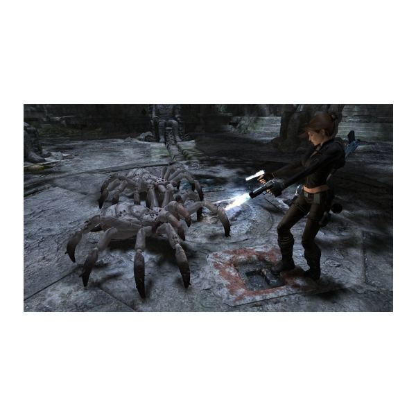 Spiders and bats aren't tough to eliminate in Tomb Raider: Underworld