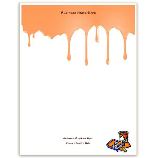 dripping paint letterhead