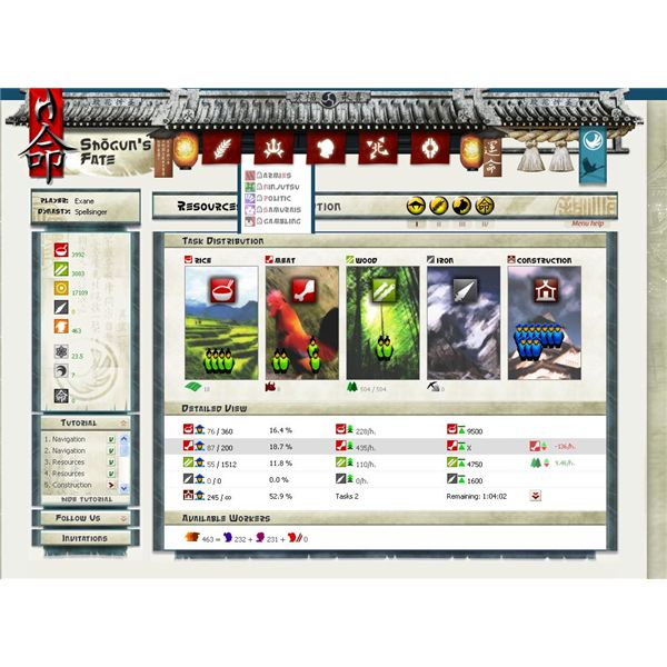 Browsers MMO Games: Shogun's Fate