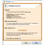Firewall Alert on Keylogger Detection