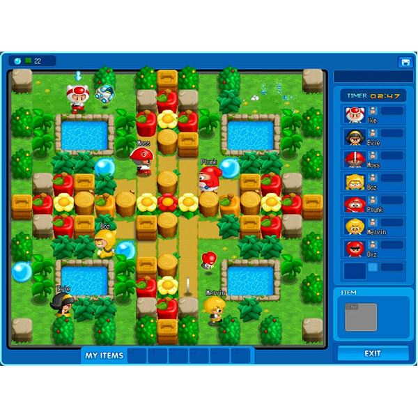 PopTag! has plenty of multiplayer maps, such as this luscious garden setting.