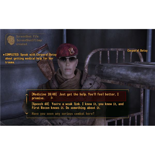 Fallout: New Vegas Walkthrough - I Don't Hurt Anymore - Corporal Betsy