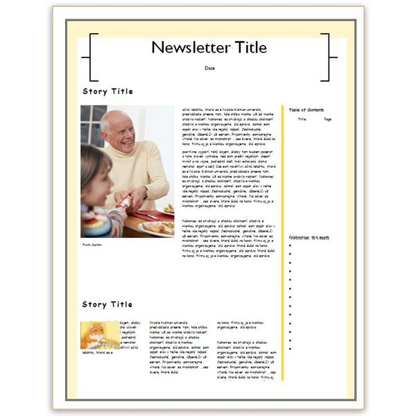 Making A Family Newsletter In Word Tips And Templates To Download