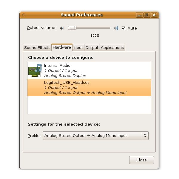 Gnome Preferences Hardware