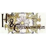 Harp and Chrysanthemum