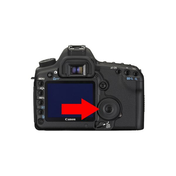 canon camera menu back button