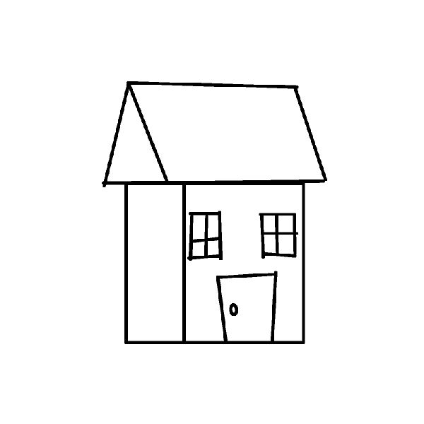 Kanji japanese lessons online how to have fun while for House drawing easy