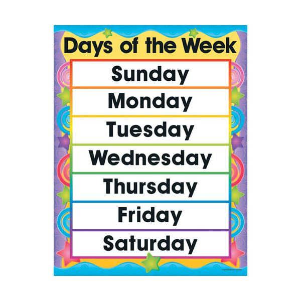 Preschool circle time activities lesson plans - Days