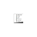 A basic e-mail toolbar.