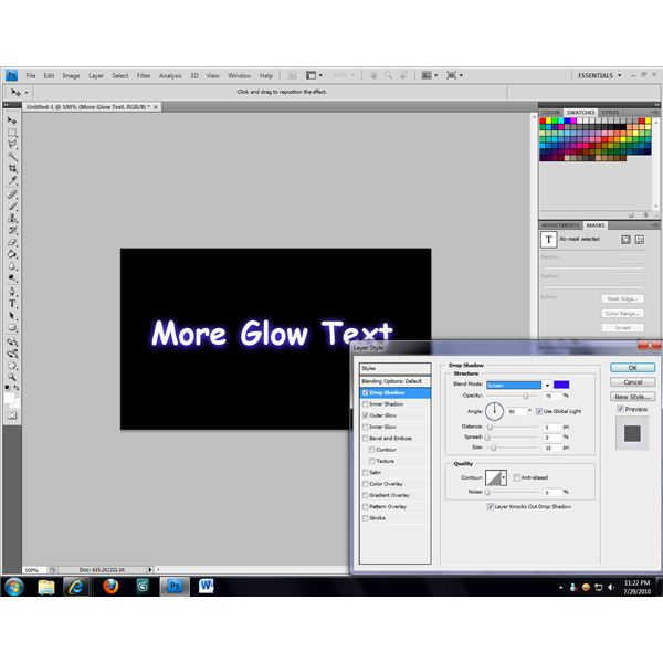 A second glow can be added using the Drop Shadow attribute.