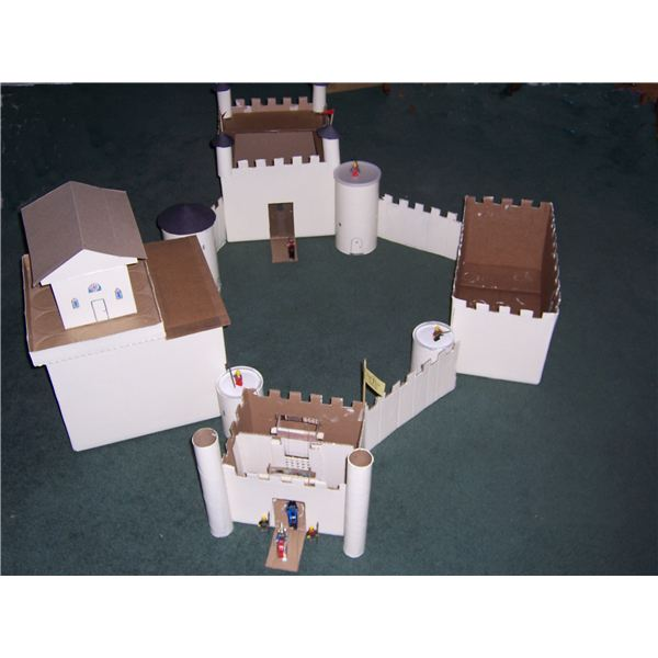 A advanced cardboard castle