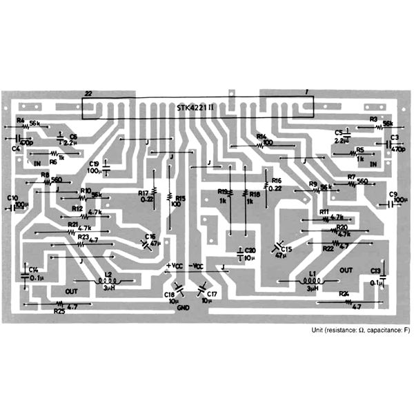 100 Watt Car Stereo Amplifier PCB Layout, Image