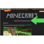 Minecraft Download Link Location on the Front Page of the Site