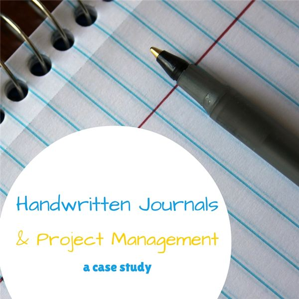 Journaling by Hand as a Learning and Recording Tool for Project Management
