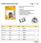 Kodak Premium Photo Paper prices