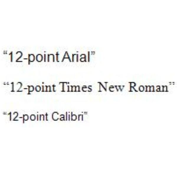 Font Types And Font Sizes