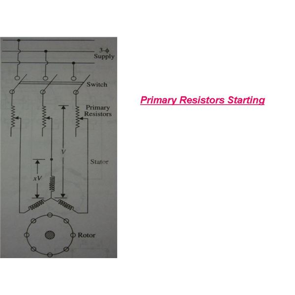 primary resistor starting circiut