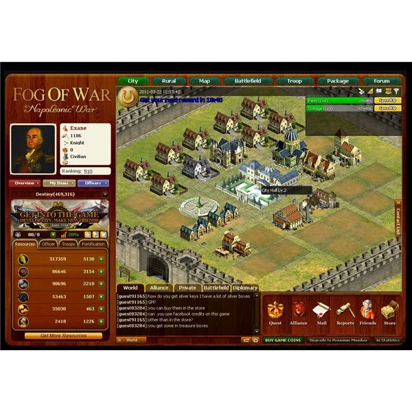 Browser MMO Games: Napoleonic Wars Game Guide