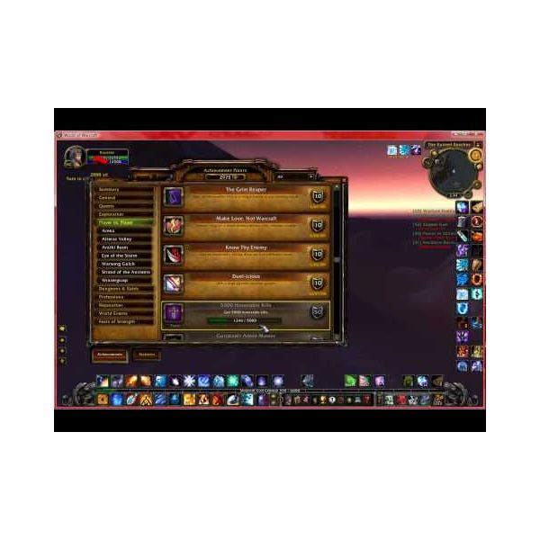 Determining WoW Character Rating Using the Gear Score Add-On and Achievements