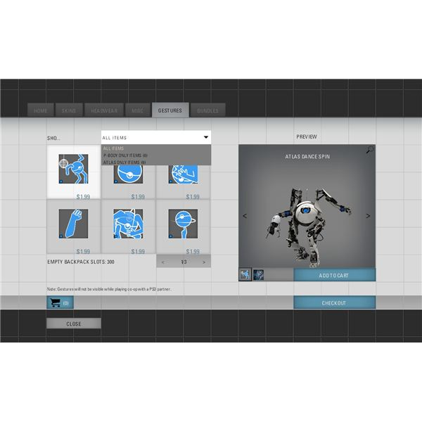 Among the Portal 2 DLC offerings are dance moves for the robots.