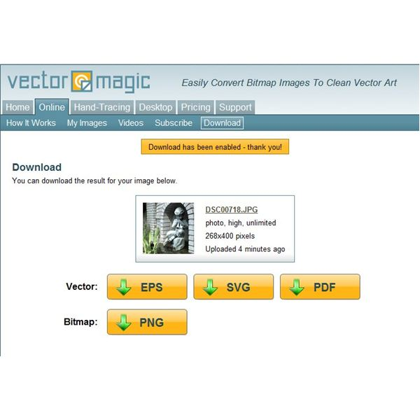Download Options for Vector Magic