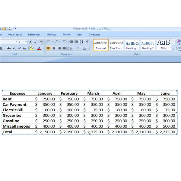 Excel Import into Word