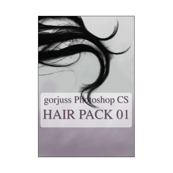 Photoshop HAIR brushes pack 01 by gorjuss stock