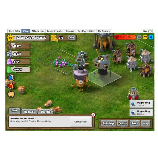 Facebook Game Review: Backyard Monsters - Build your own Facebook monster army!