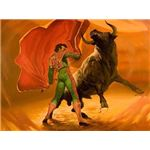 """""""Bullfighter painted by Montyne; discovered at an estate sale"""