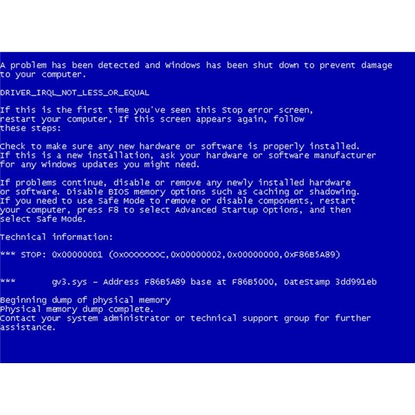 The Blue Screen of Death indicates a severe system error has occurred.