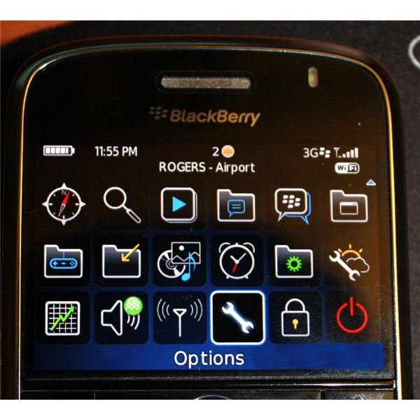 BlackBerry Options Icon