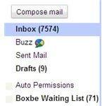 Screenshot Gmail Boxbe Folder