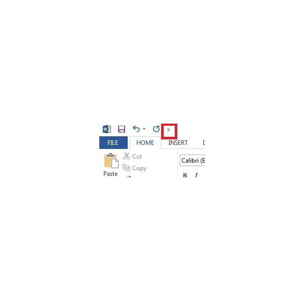 Figure 1 - Quick Toolbar