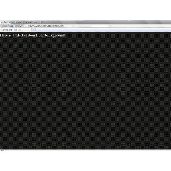 A simple tiled background on a web page