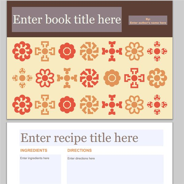 Cookbook Cover Template Free Download : Collection of free cookbook templates great layouts for