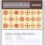 Snapfish Folk Flowers Cookbook Printable