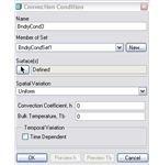 Convection conditions dialogue box