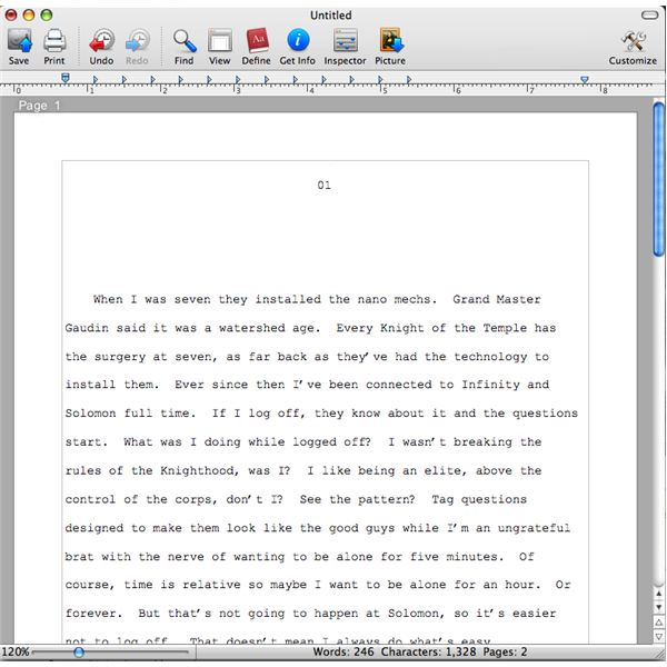 Free Word Processing for Mac OSX: FreeWare Programs Bean and