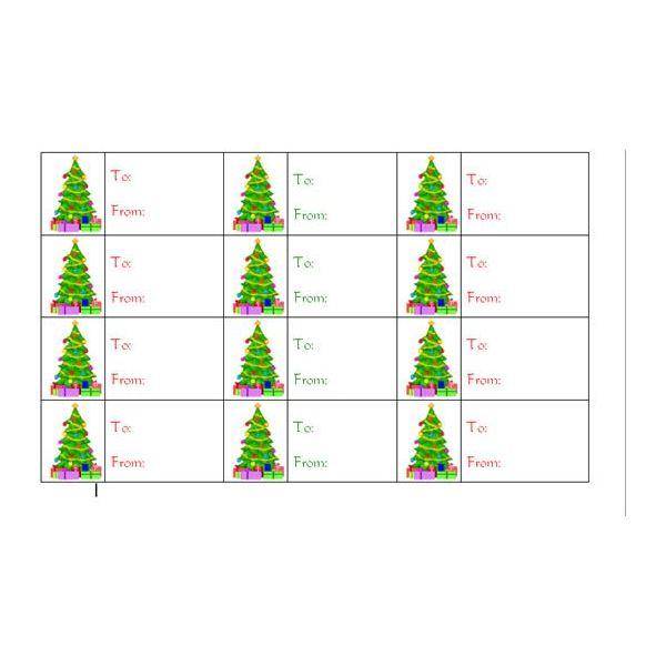 Make your Own Christmas Tree Gift Tags with Microsoft Word - Final